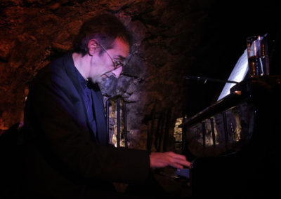 Christopher Culpo on Piano at Caveau de l'Huchette in Paris. Photo by David Tepfer.